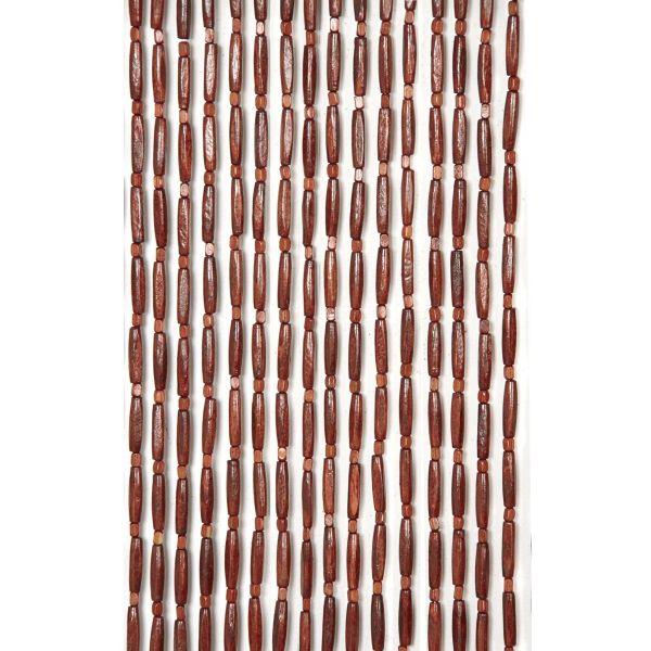 rideau de porte en perles de bois