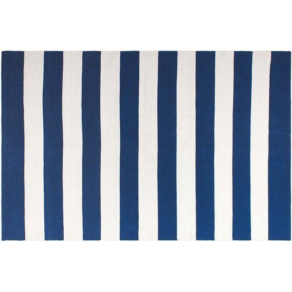 tapis interieur exterieur nantucket bleu et blanc 270 x 180 cm