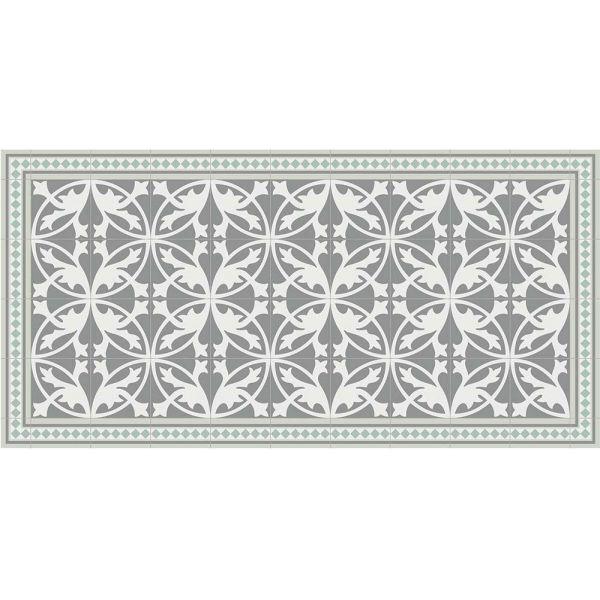 tapis interieur exterieur en vinyle carreaux de ciment feuilles 70 x 140 cm