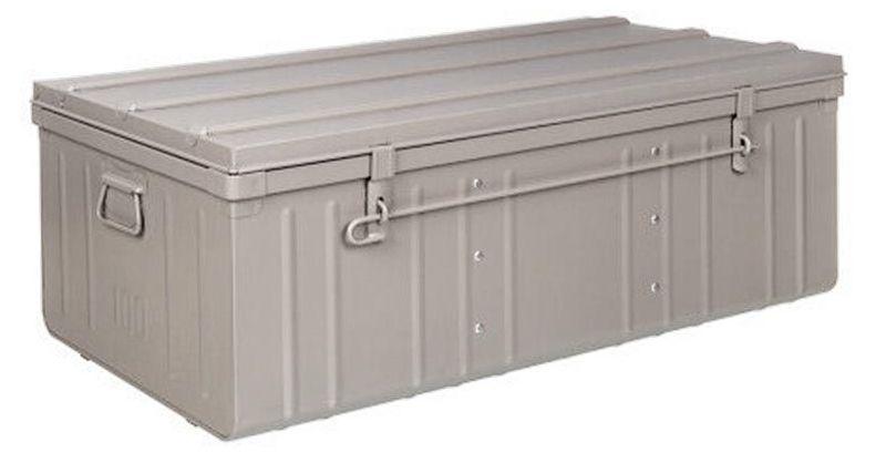 malle armoire en acier 2 en 1 taupe