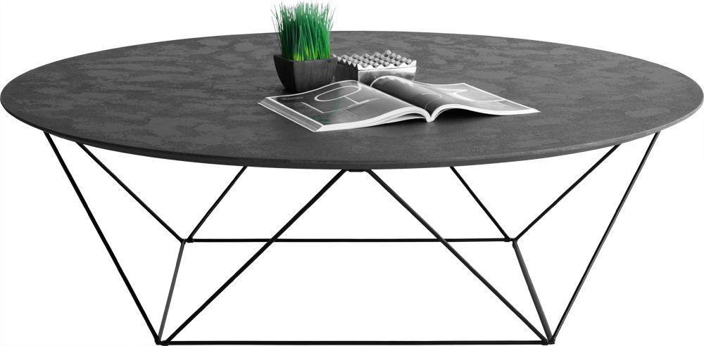 Table Basse En Metal Et Beton Cire