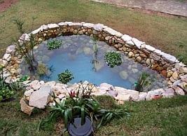 Resultado de imagem para construir um lago no jardim