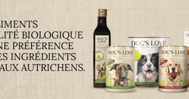 DOG'S LOVE ALIMENTATION 100% BIO POUR CHIENS