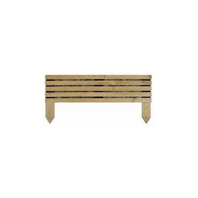 bordure a planter en bois vert naturel kub
