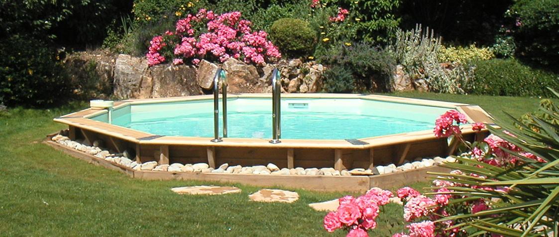piscine bois octogonale ocea o 5 10 x h1 20m