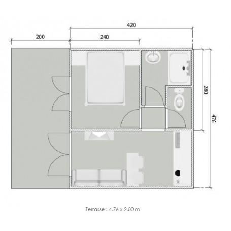 studio de jardin 20m2 ossature bois 4 76 x 4 20 m