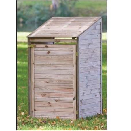 abri cache poubelles simple en bois