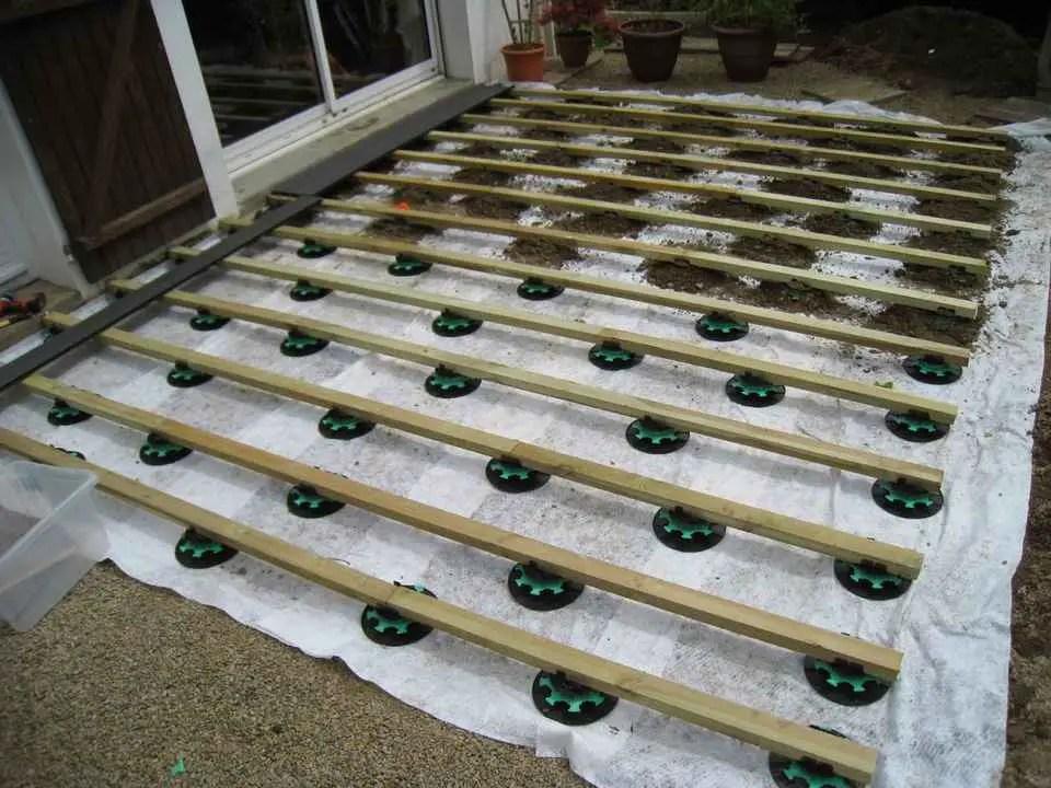 Poser Une Terrasse Composite Sur Plots Et Lambourdes Jardin Et Maison
