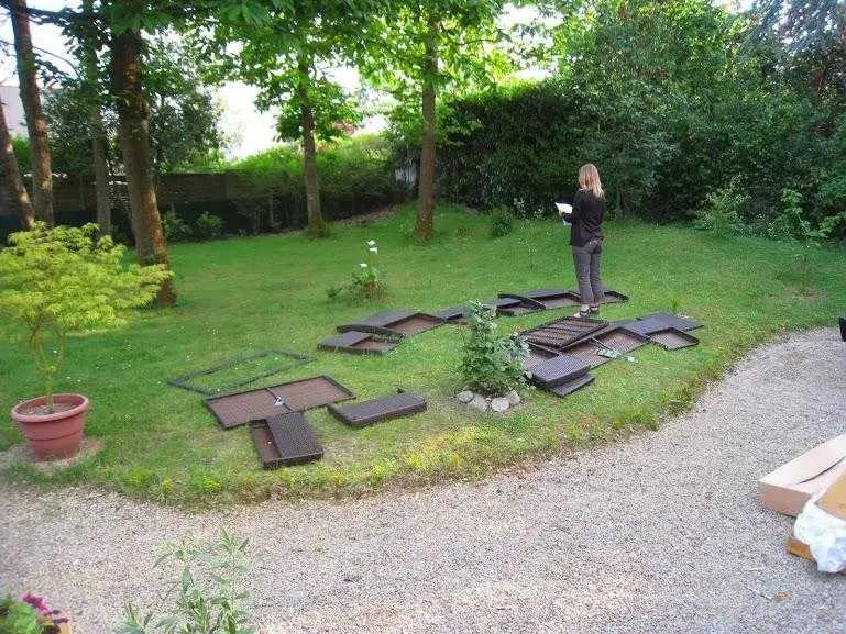 salon de jardin en resine carrefour