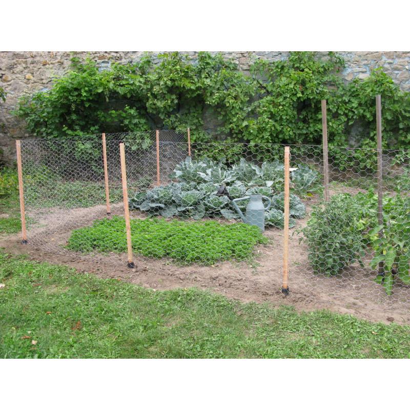Kit de clture potager en bois 10 m pour protger votre jardin