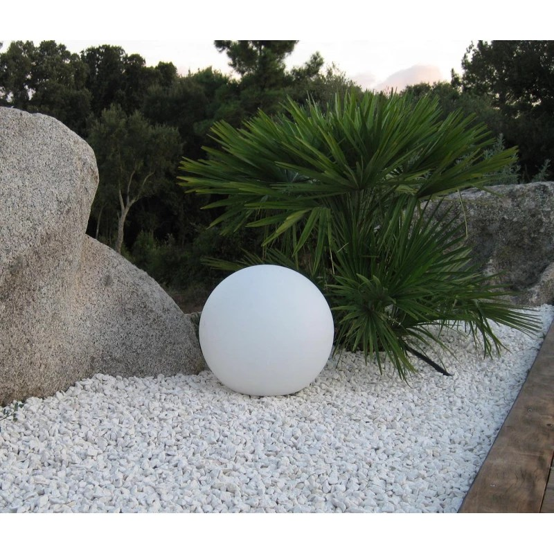 Boule lumineuse blanche extrieure