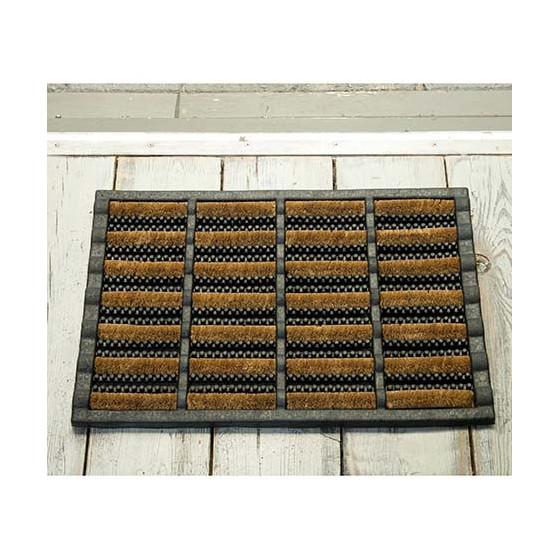 tapis paillasson exterieur grattant en coco et caoutchouc