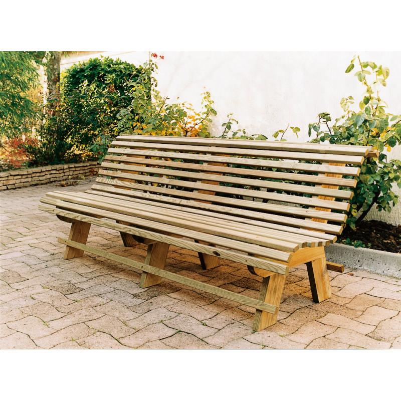 Jardin et Saisons prsente son banc de jardin en bois tout confort