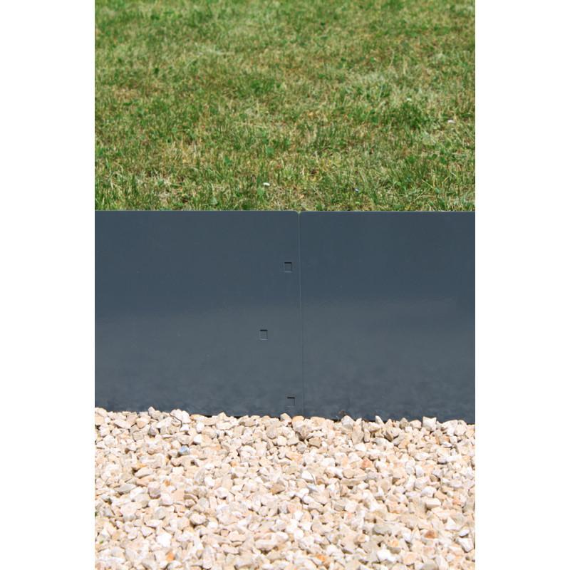 en acier gris anthracite h 25 cm