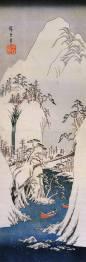 Hiroshige,_A_snowy_gorge