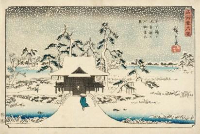 Inokashira_Pond_and_Benzaiten_Shrine_in_Snow_LACMA_M.71.100.21