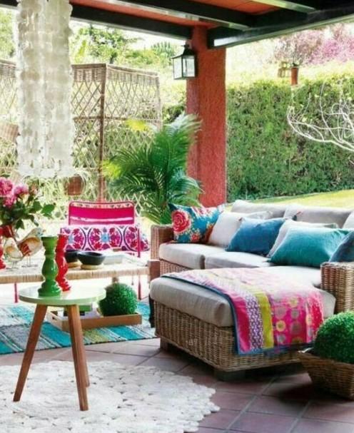 decoration boheme dans son jardin