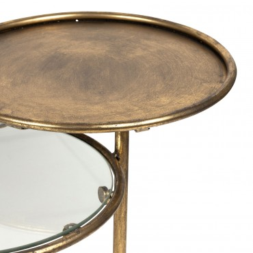 table d appoint eluminea dore 104x42cm