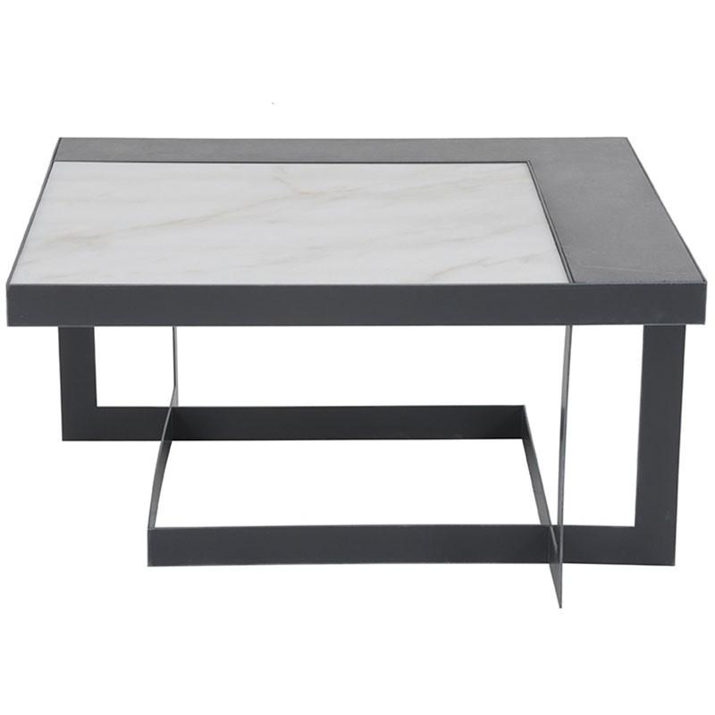 table basse marbre pierre bleue 80x40x80cm