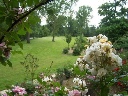 Le Jardin des Voyageurs vu de la roseraie