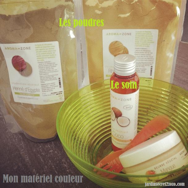 henné aromazone  henné cheveux roux aromazone tutoriel recette blog   matériel