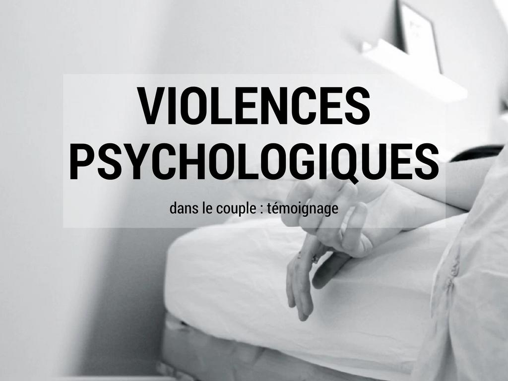 Violences psychologiques dans le couple, lettre ouverte