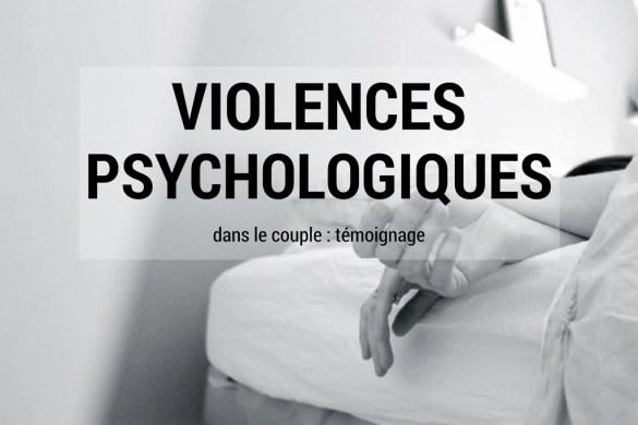 violences psychologiques dans le couple