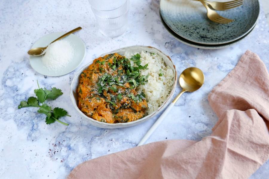 Dahl de lentilles, épinards et patate douce