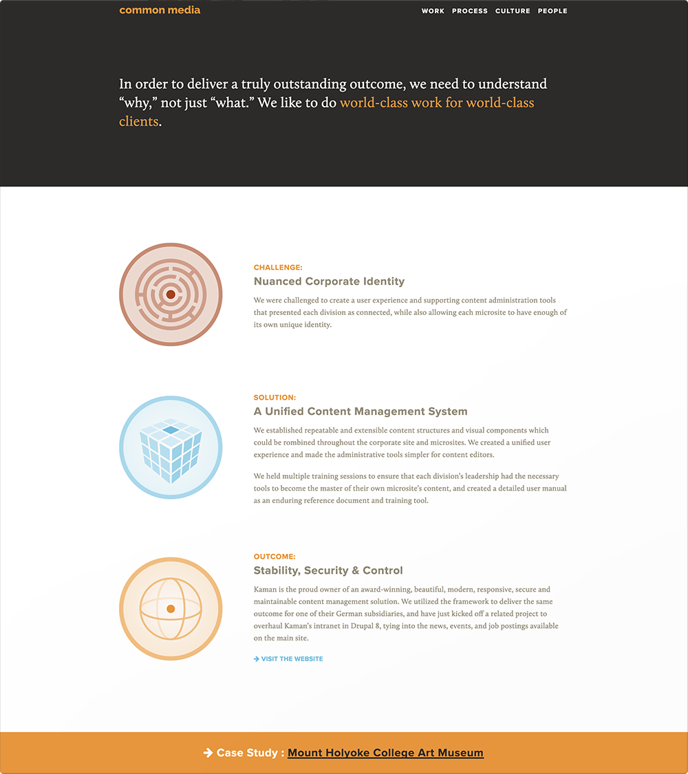 Common Media Site (Case Study Page)