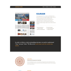 Common Media WordPress Site Design