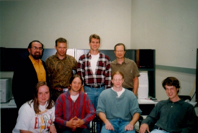 GVU AudioLab Team Photo:(Pictured First Row Left to Right: James Oliverio, Jarrell Pair, Jeff Chastine, Ron Raymond Pictured Second Row Left to Right: Maribeth Gandy, Thomas Hartley , Jeff Wilson, Charlie Hubbard)