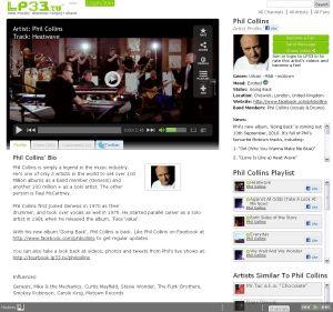 LP33.TV Phil Collins Profile Screenshot