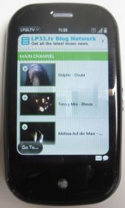 LP33.TV WebOS App Running on Palm Pre