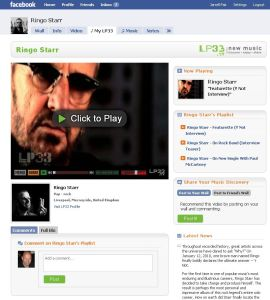 """My LP33"" App Installed on Ringo Starr's Facebook Fan Page"