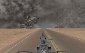 Virtual Iraq PTSD Therapy System Humvee Gunner View