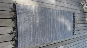Kypertvävd grå trasmatta