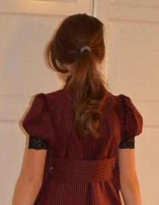 Skjortklänning bakifrån
