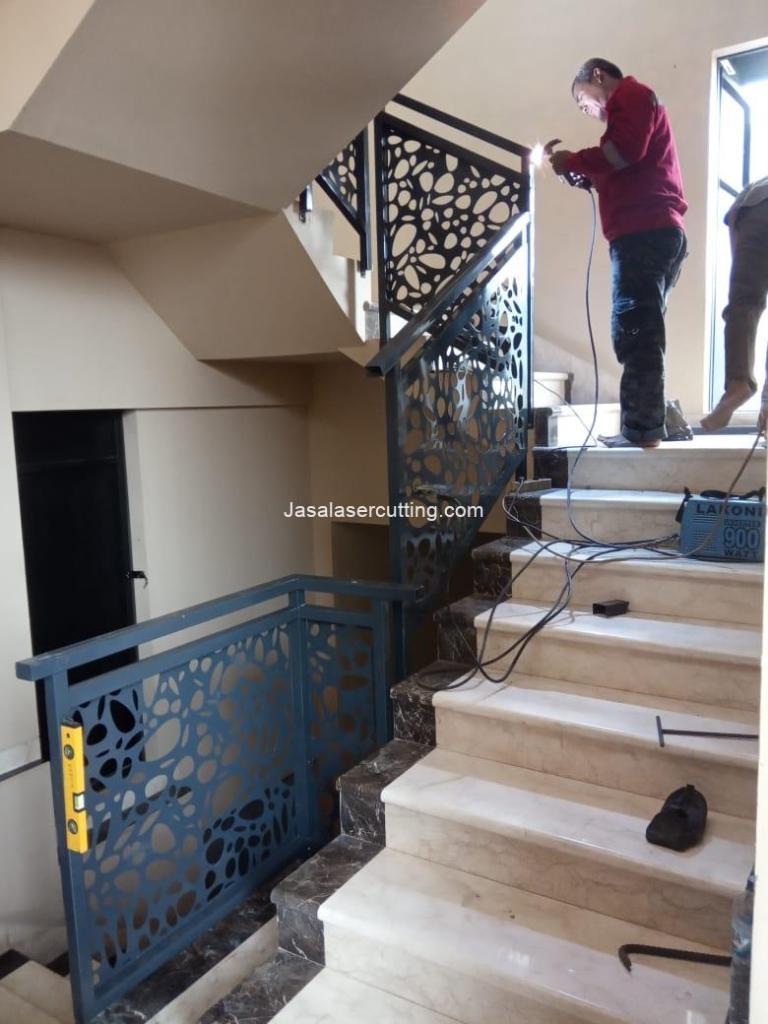 railing tangga laser cutting