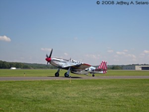 """The """"Betty Jane"""" a World War II era North American TP-15C Mustang taxiing."""