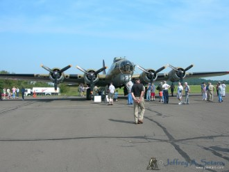 "The ""Nine O Nine"" a WWII era Boeing B-17G Flying Fortress."