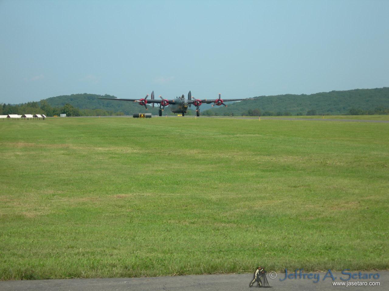 "The ""Witchcraft"" a World War II era B-24J Liberator taxiing after a flight."