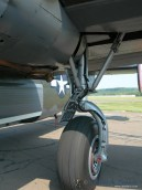 A close-up of one of the Witchcraft's Liberator's main landing gear.