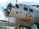 A close-up view of the Aluminum Overcast a WW II era B-17G operated by the EAA.