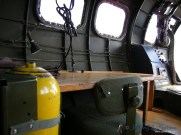 The navigators station in the nose of the Aluminum Overcast.