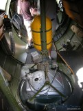 An interior vew of the Aluminum Overcast's ball turret.
