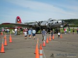 The Aluminum Overcast a WW II era B-17G operated by the EAA.