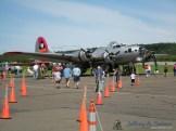 The Aluminum Overcast a WW II era B-17G operated by the EAA.