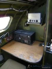 The radio operators station.