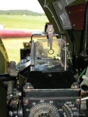 A close up look at sight one the Aluminum Overcast's waist guns.