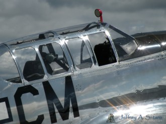 A close-up the Betty Jane's cockpit.